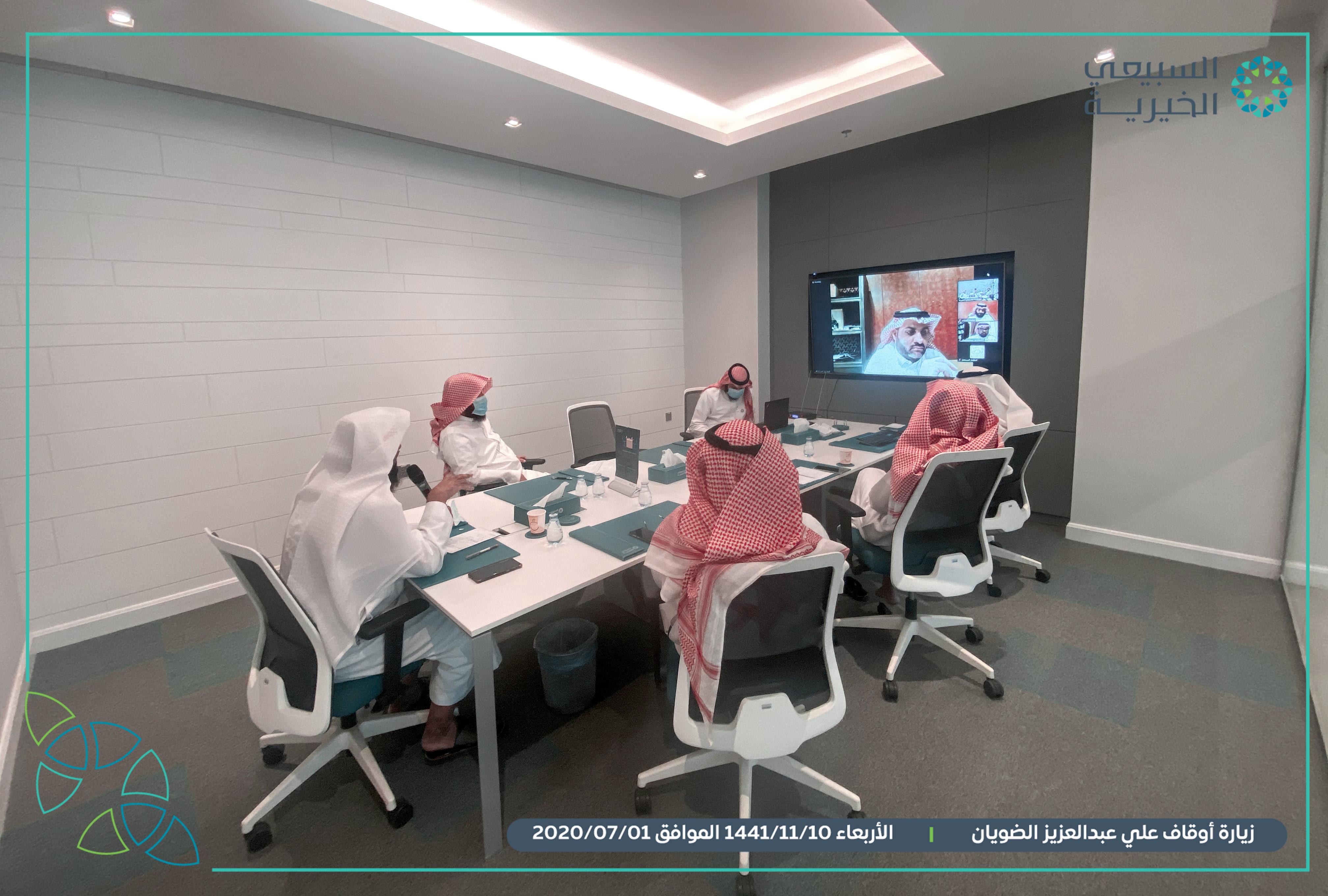 اجتماع المؤسسة مع أوقاف علي بن عبدالعزيز الضويان